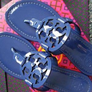 Tory Burch Shoes - NEW Tory Burch Miller Sandals Bright Indigo